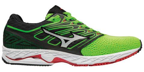 Mizuno Wave Shadow кроссовки для бега мужские черные-зеленые