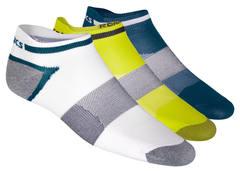 Комплект носков Asics 3ppk Lyte Sock белые-синие-желтые