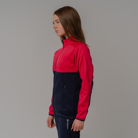 Nordski Jr Premium лыжная куртка детская pink-blueberry
