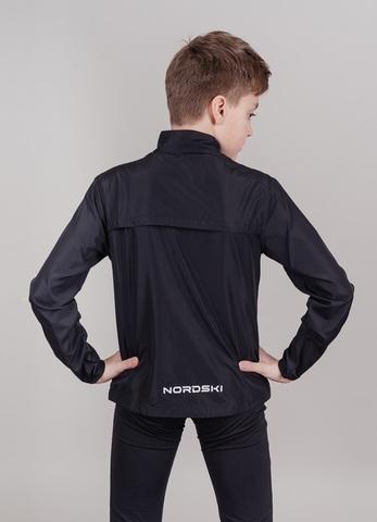 Nordski Jr Motion костюм беговой детский черный-лайм