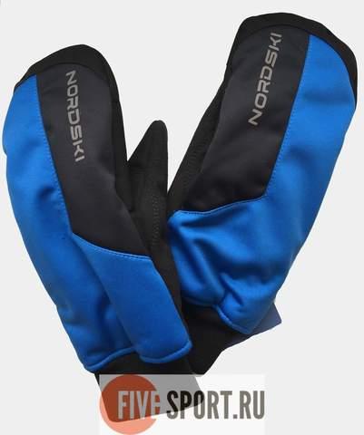 Nordski Jr Arctic WS теплые варежки blue-black