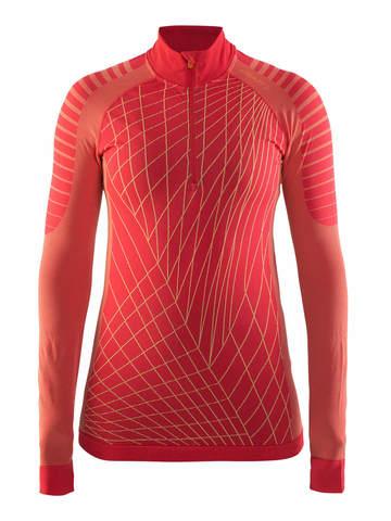 Craft Active Intensity терморубашка женская с молнией красная
