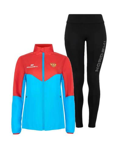 Nordski Sport Elite костюм для бега женский blue-black