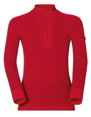 Odlo Warm детское термобелье рубашка на молнии red