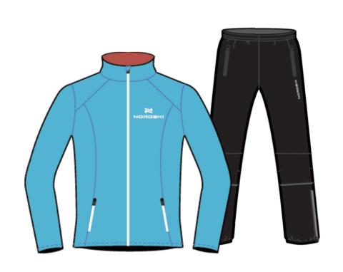 Nordski Premium Run костюм для бега мужской Blue-Black
