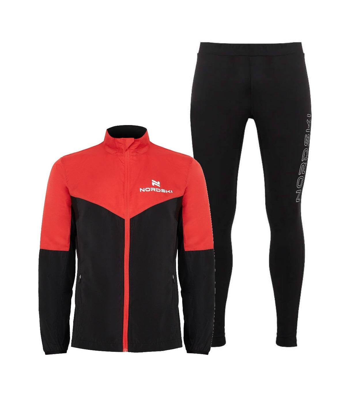Nordski Sport Elite костюм для бега мужской red-black - 12