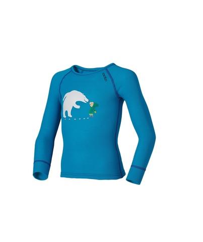 Odlo Warm Trend детская термофутболка с длинным рукавом синяя