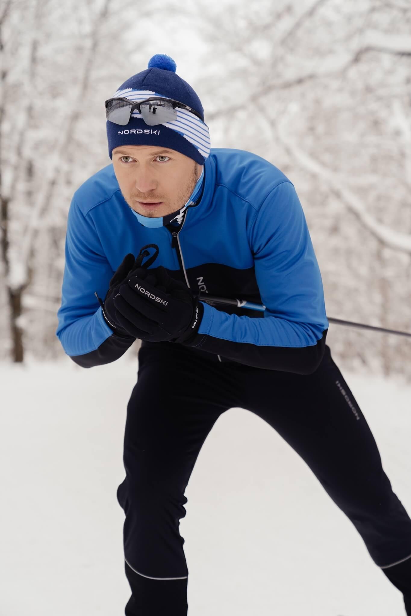 Nordski Jr Active лыжный костюм детский blue-black - 4