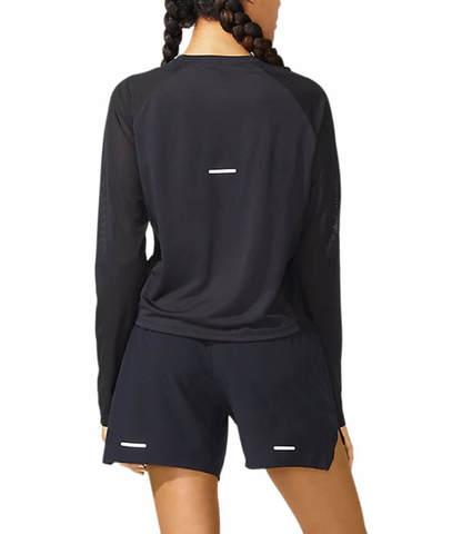 Asics Smsb Run Ls Top рубашка для бега женская черная