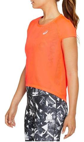 Asics Future Tokyo Ventilate SS Top футболка для бега женская оранжевая