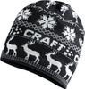 Craft Retro лыжная шапка вязаная черная - 1