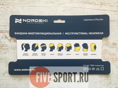 Nordski Logo многофункциональный баф черный
