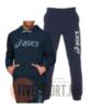 Asics Big Oth Logo спортивный костюм с капюшоном мужской темно-синий - 1
