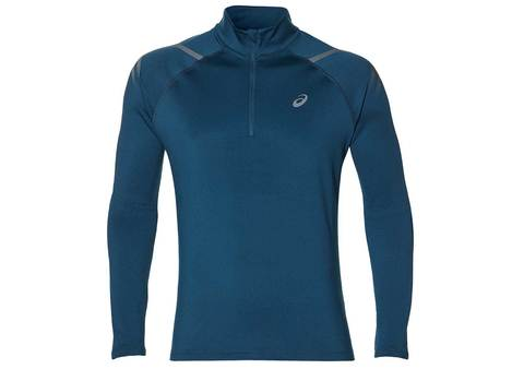 Asics Icon Winter LS 1/2 Zip беговая рубашка мужская синяя