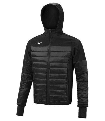 Mizuno Sapporo Hooded Hybrid Jacket куртка утепленная мужская черная