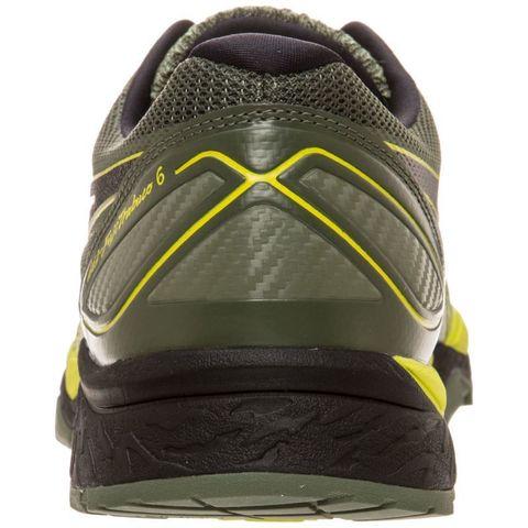 Кроссовки внедорожники мужские Asics Gel Fujitrabuco 6 черные-желтые (Распродажа)