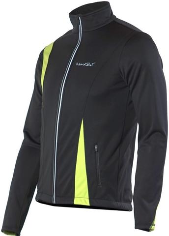 Nordski Active детская разминочная куртка black-lime