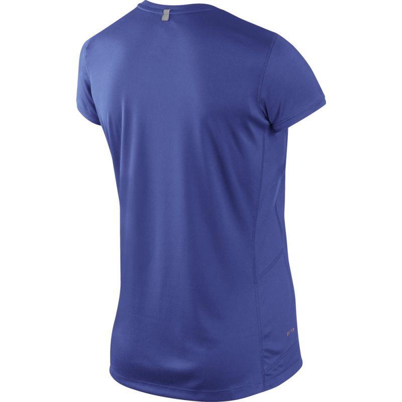 Футболка Nike Miler SS Crew Top (W) /Рубашка беговая синяя - 2