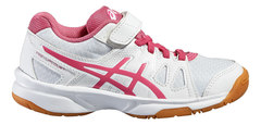 Asics Pre Upcourt PS кроссовки волейбольные детские белые-розовые