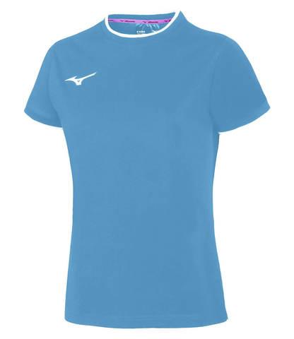 Mizuno Tee беговая футболка женская голубая