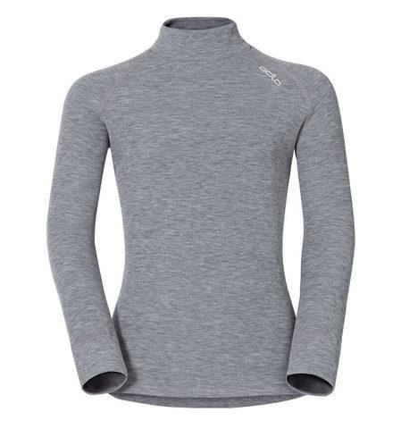 Odlo Warm детское термобелье рубашка серая