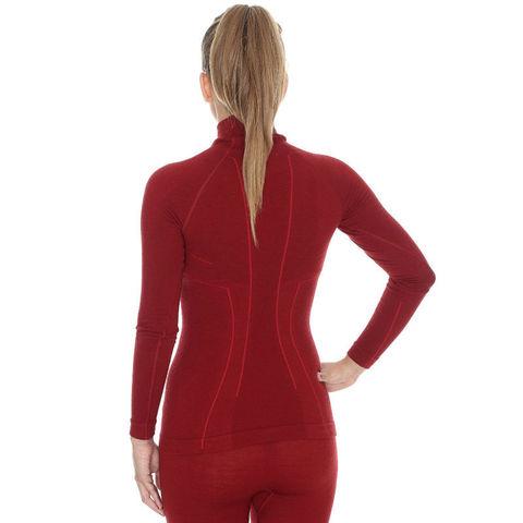 Термобелье Brubeck Wool Merino терморубашка женская бордо