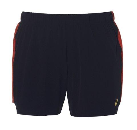 """Asics 5.5"""" Short шорты для бега женские черные-красные"""