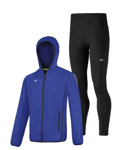 Mizuno Micro Impulse Core костюм для бега мужской синий-черный