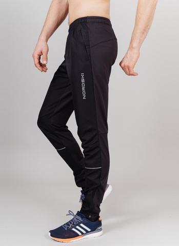 Nordski Run брюки для бега мужские Black