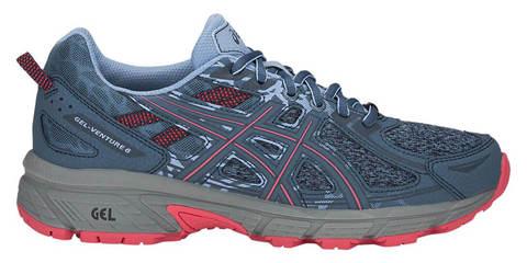 Asics Gel Venture 6 кроссовки-внедорожники для бега женские серые-розовые