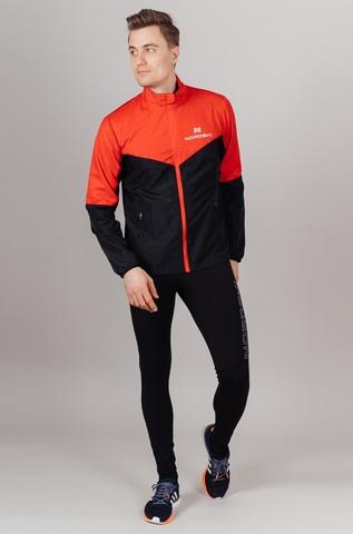 Nordski Sport Elite костюм для бега мужской red-black