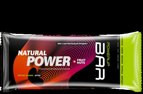 Энергетический батончик PowerUp Bar Fruit+Nuts изюм, яблоко, корица, миндаль