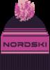 Nordski Stripe теплая шапка violet - 1