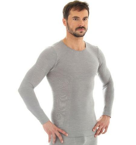 Термобелье мужское Brubeck Comfort Wool рубашка серая