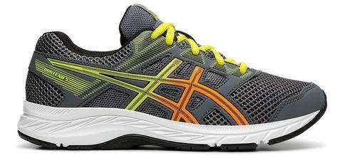 Asics Gel Contend 5 Gs кроссовки беговые детские серые-желтые