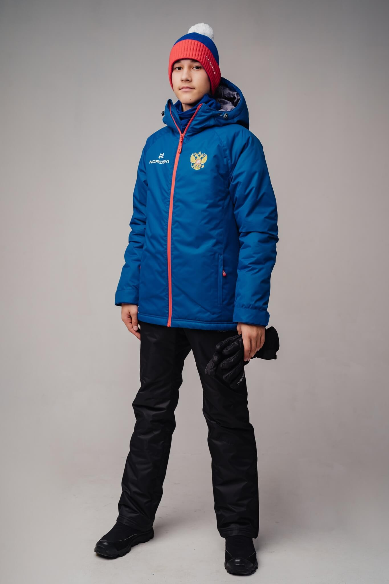 Nordski Jr Motion Patriot утепленная прогулочная лыжная куртка детская - 5