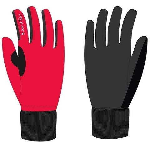 Nordski Active WS лыжные перчатки красные
