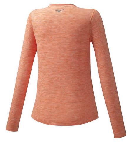 Mizuno Impulse Core Ls Tee футболка с длинным рукавом женская оранжевая
