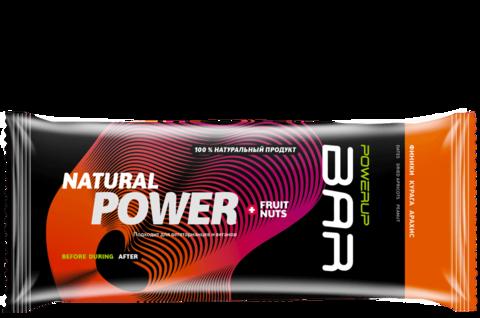 Энергетический батончик PowerUp Bar Fruit+Nuts курага, арахис