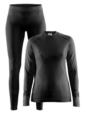 Craft Seamless Zone женский комплект термобелья black