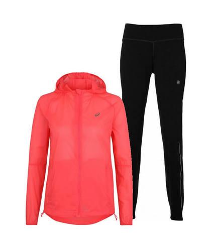 Asics Packable костюм для бега женский pink