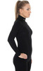 Термобелье Brubeck Wool Merino рубашка женская черная - 3
