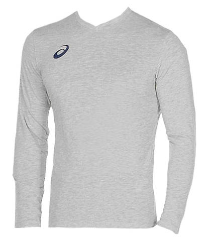 Asics Long Sleeve Tee мужская беговая рубашка серая