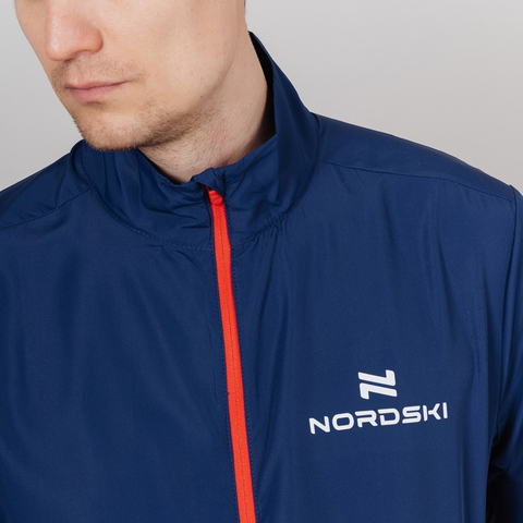 Nordski Motion куртка ветровка мужская Navy/Red