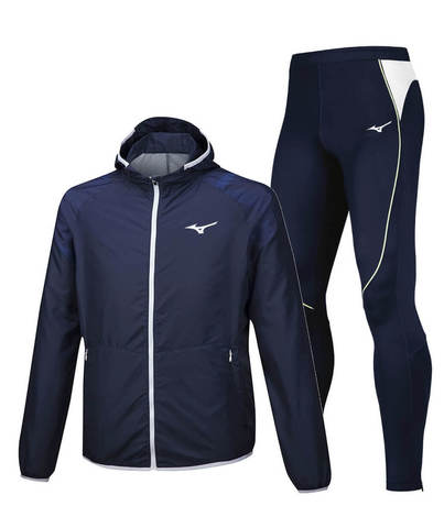 Mizuno Printed Premium костюм для бега мужской blue