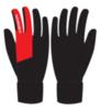 Nordski Jr Arctic детские лыжные перчатки black-red - 2