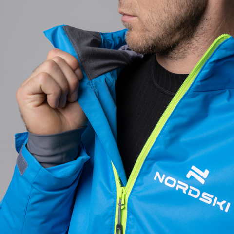 Nordski Light утепленная ветрозащитная куртка мужская blue