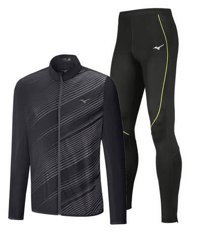 Mizuno Aero Premium Jpn костюм для бега мужской черный