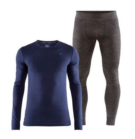 Craft Fuseknit Comfort комплект термобелья мужской navy-grey