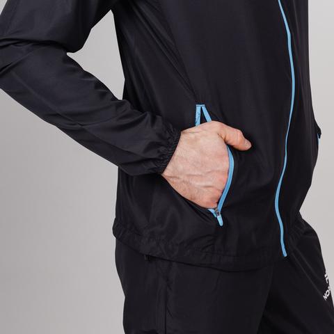 Nordski Motion костюм для бега мужской Black-Blue